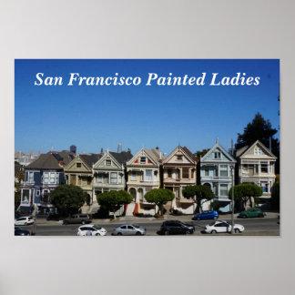 San Francisco Painted Ladies #3 Poster