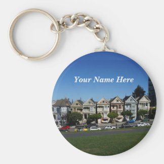 San Francisco Painted Ladies #4 Keychain