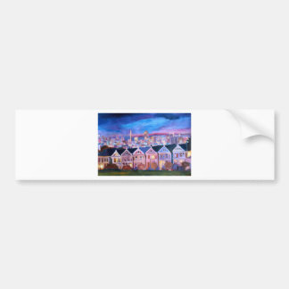 San Francisco  Painted ladies Bumper Sticker