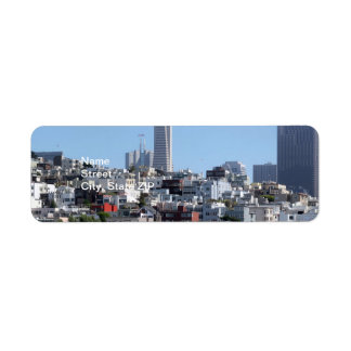 San Francisco Panorama Return Address Label