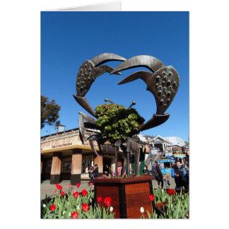 San Francisco Pier 39 Crab Statue Card