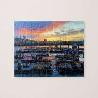 San Francisco Pier 39 Sea Lions #8 Jigsaw Puzzle