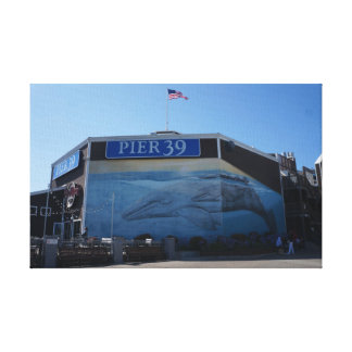 San Francisco Pier 39 Whale Mural Canvas
