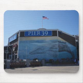 San Francisco Pier 39 Whale Mural Mousepad