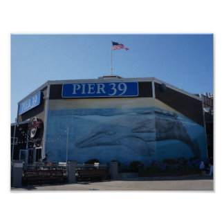 San Francisco Pier 39 Whale Mural Poster