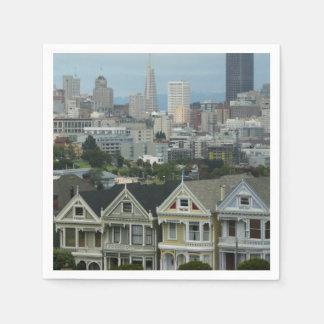 San Francisco Postcard Row City Scene Photography Paper Napkins