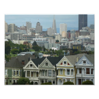San Francisco Postcard Row City Scene Photography Photo Art