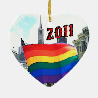 San Francisco Pride 2011 Ceramic Heart Decoration