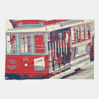 San Francisco,red blue Tea Towel
