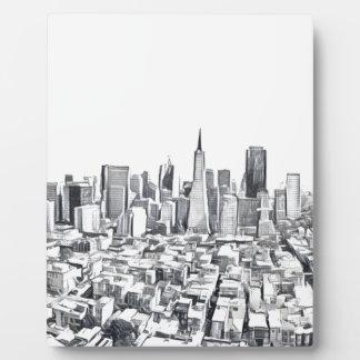 San Francisco SF Citiscape Photograph Photo Plaques