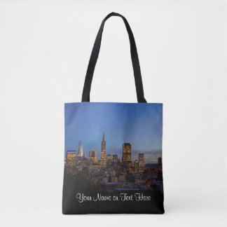 San Francisco Skyline #3 All Over Print Tote Bag