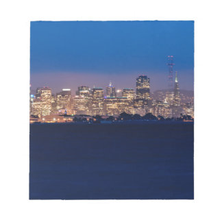 San Francisco Skyline at Dusk Notepad