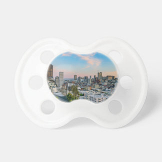 San Francisco Skyline at Sunset Baby Pacifiers