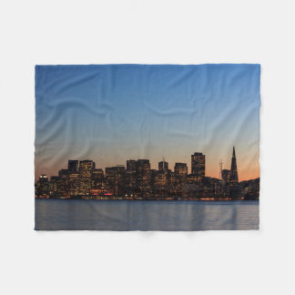 San Francisco Skyline at Sunset Fleece Blanket