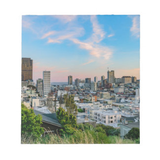 San Francisco Skyline at Sunset Notepads