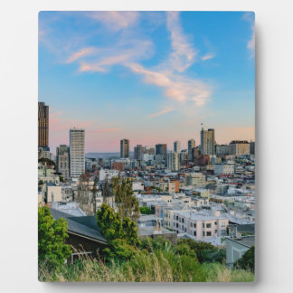San Francisco Skyline at Sunset Photo Plaques