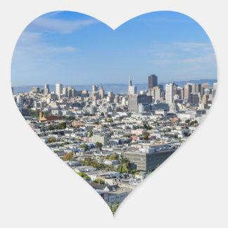 San Francisco Skyline Heart Sticker