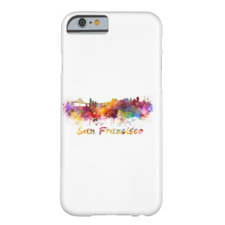 San Francisco skyline in watercolor Barely There iPhone 6 Case