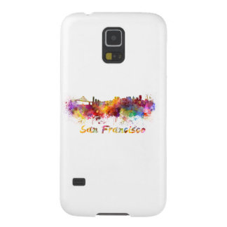 San Francisco skyline in watercolor Galaxy S5 Cover