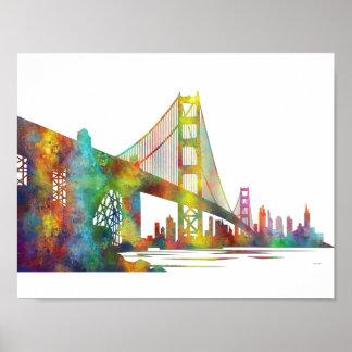 SAN FRANCISCO SKYLINE POSTER