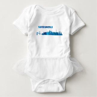 San Francisco Skyline Silhouette Baby Bodysuit