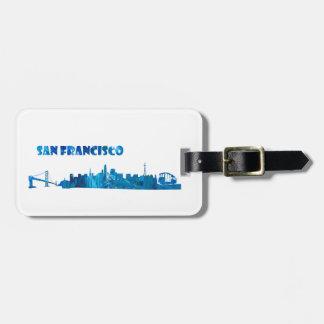 San Francisco Skyline Silhouette Luggage Tag