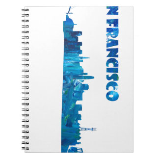 San Francisco Skyline Silhouette Notebook