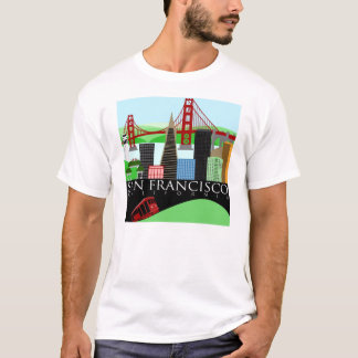 San Francisco Skyline t shirt