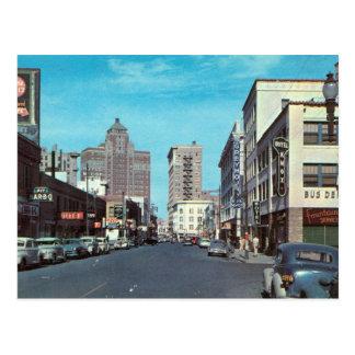San Francisco St., El Paso TX Vintage Postcard