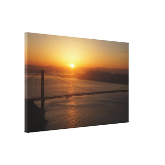 San Francisco Sunrise Wrapped Canvas Print