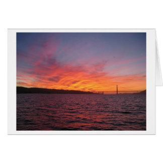 San Francisco Sunset Card