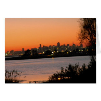 San Francisco sunset greeting card