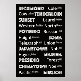 San Francisco - town center District´s Poster