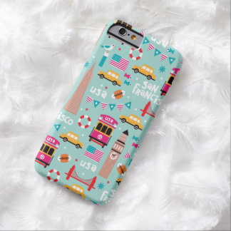 San Francisco travel love usa illustration pattern Barely There iPhone 6 Case