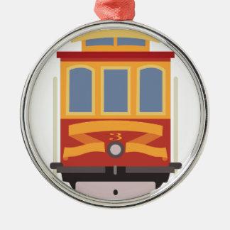 San Francisco Trolley Metal Ornament