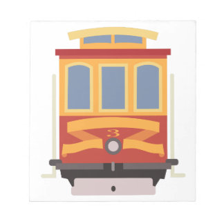 San Francisco Trolley Notepad
