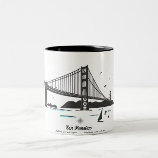 San Francisco Two-Tone Coffee Mug