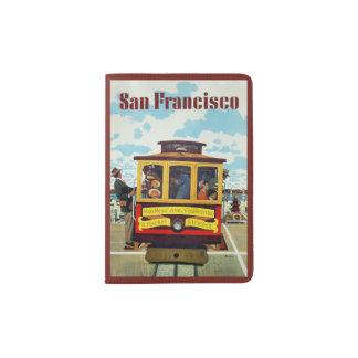 San Francisco USA Vintage Travel passport holder