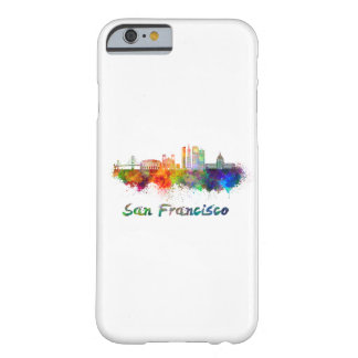 San Francisco V2 skyline in watercolor copy Barely There iPhone 6 Case