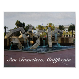 San Francisco Vaillancourt Fountain #2 Poster