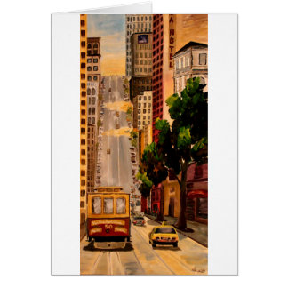 San Francisco Van Ness Cable Car Card