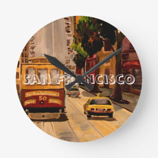 San Francisco Van Ness Cable Car Round Clock