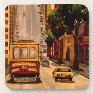 San Francisco Van Ness Cable Car Beverage Coasters