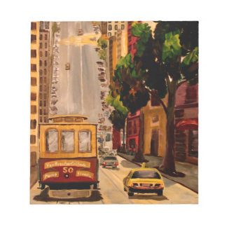 San Francisco Van Ness Cable Car Memo Notepads