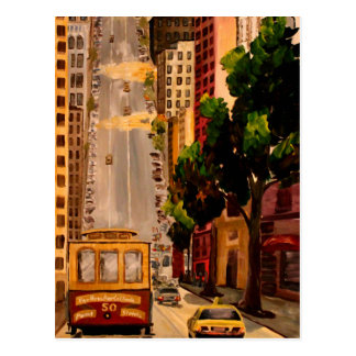 San Francisco Van Ness Cable Car Postcard