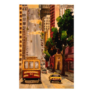 San Francisco Van Ness Cable Car Personalized Stationery