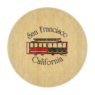 San Francisco-Vintage Cable Car Cutting Board