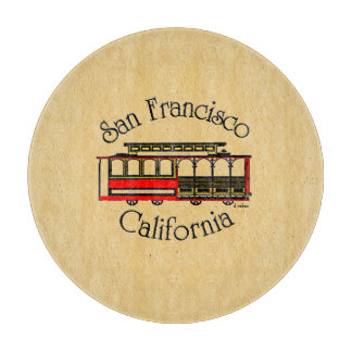 San Francisco-Vintage Cable Car Cutting Board