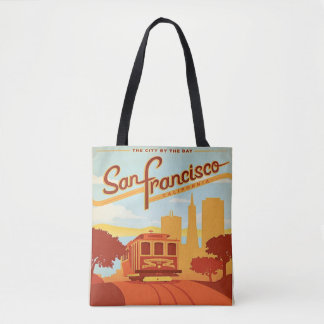 San Francisco Vintage Style Tote bag Trolley