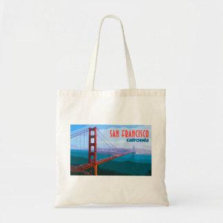 San Francisco Vintage Travel Tote Shopping Bag